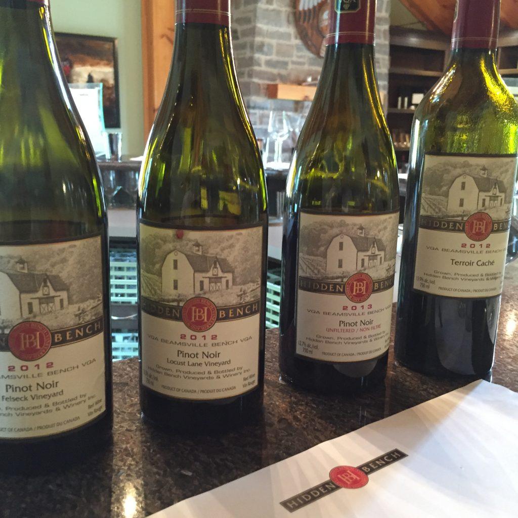 Hidden Bench Vineyards - Pinot Noir - Terroir Caché Lineup