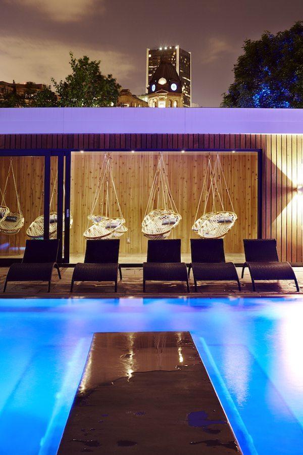 Bota Bota spa - Jardins soir 2