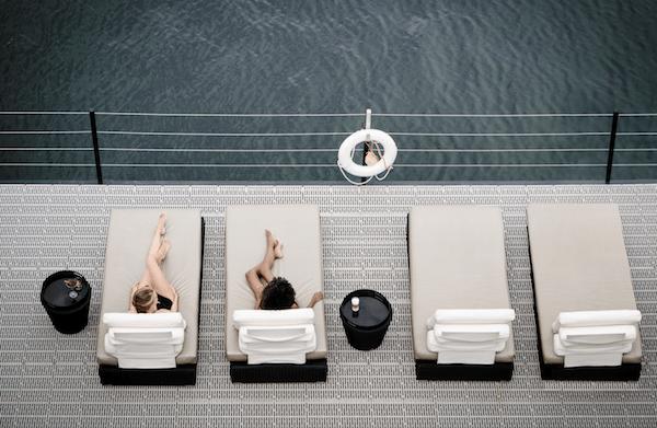 Bota Bota spa - Terrasse