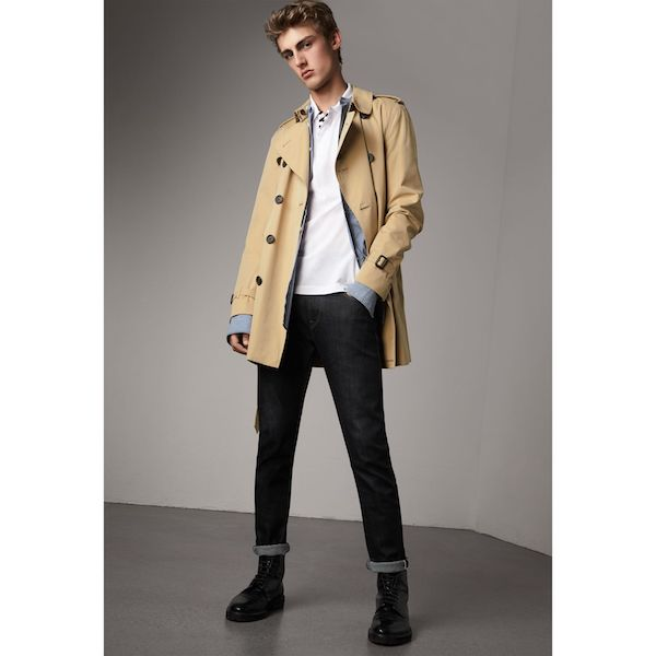 essentiels mode pour gentlemen - The Kensington – Mid-Length Heritage Trench Coat par Burberry
