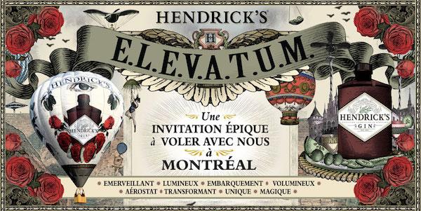 Annonce - E.L.E.V.A.T.U.M. de Hendrick's Gin - Elevatum