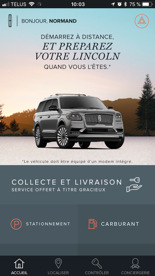 Ville de Québec - Lincoln Navigator Démarrage