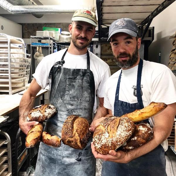 Seth Gabrielse and Julien Roy - French Prime Minister Emmanuel Macron - Automne Boulangerie Bakery