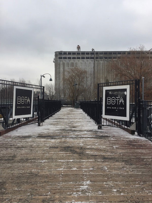 Bota Bota in Winter - Entrance