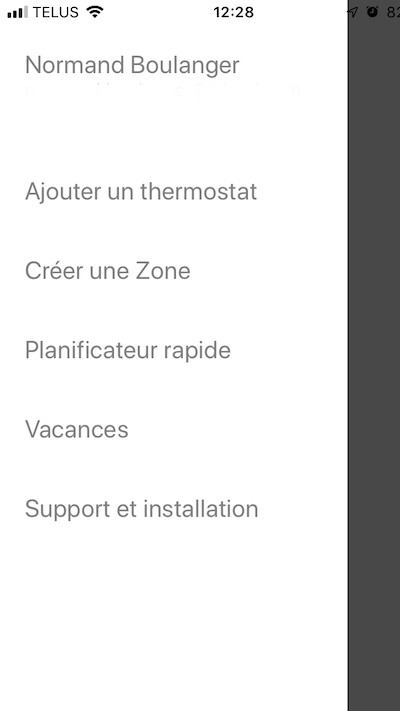 Thermostat Mysa - Options