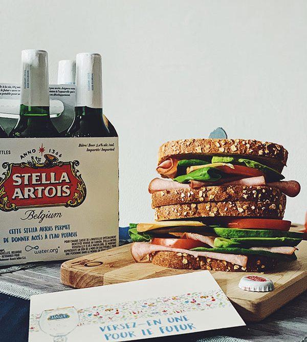 Versez-en une pour le futur de Stella Artois - Caisse - Sandwich