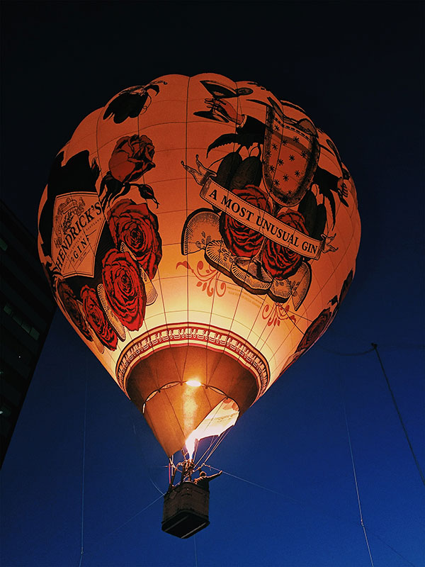 Fly Over Montreal with Gin Hendricks - Balloon Night