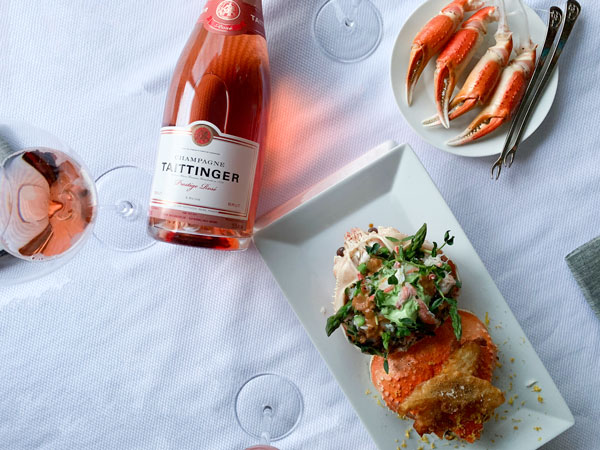 Quebec Snow Crab and Sea Urchin Salad by Grégory Faye - Taittinger Rosé