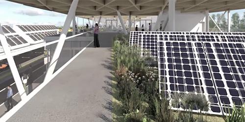 Énergie photovoltaique - Paddocks Fomula 1 Grand Prix du Canada Photo: Société du parc Jean-Drapeau