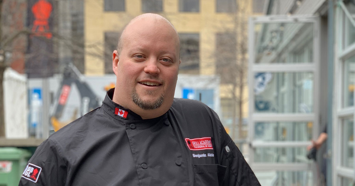 Bejamin Alarie, Weber Corporate Chef Photo: Normand Boulanger | RDPMAG