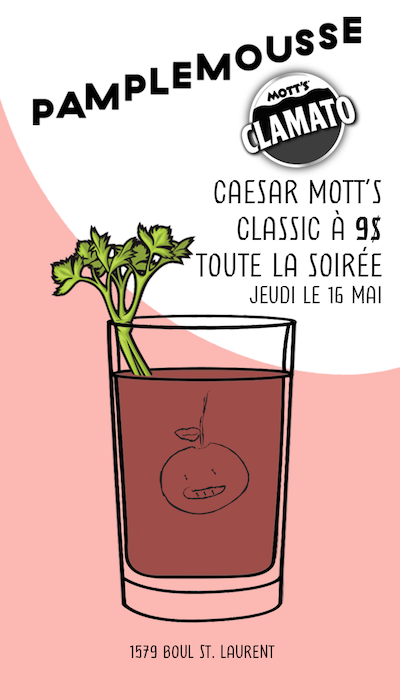 Les 50 ans du Caesar - Bar Pamplemousse Invitation
