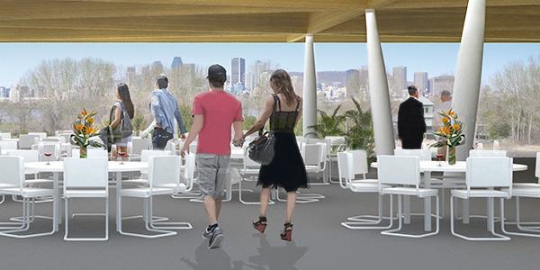 The Panorama of The Paddock Space Credit: Société du Parc Jean-Drapeau