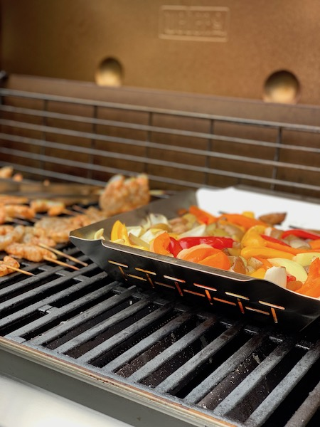 Vegetables cooking on the Weber Genesis II Photo: Normand Boulanger | RDPMAG