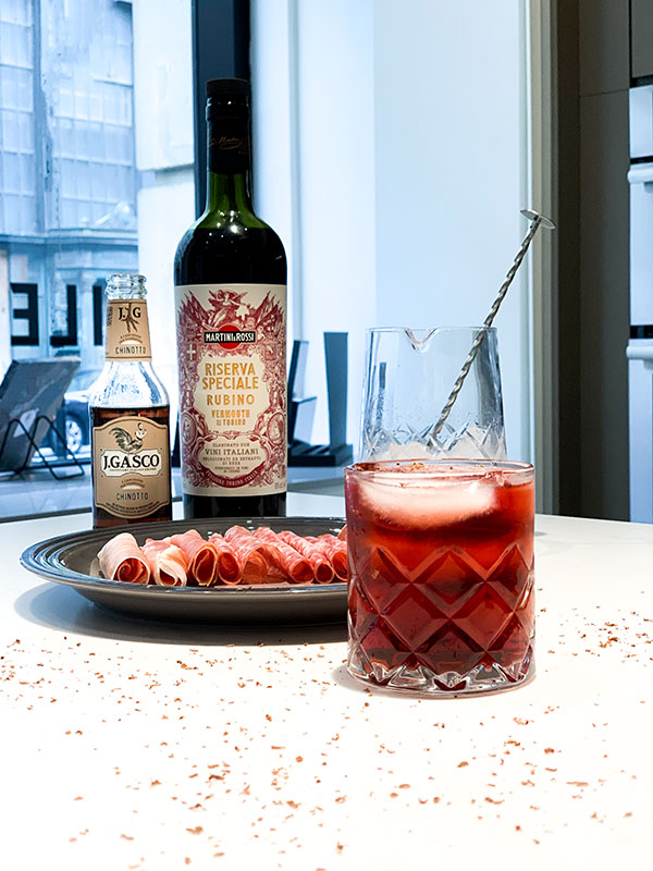 The Cioccolate Negroni cocktail by Jérôme Laflamme Photo: Normand Boulanger