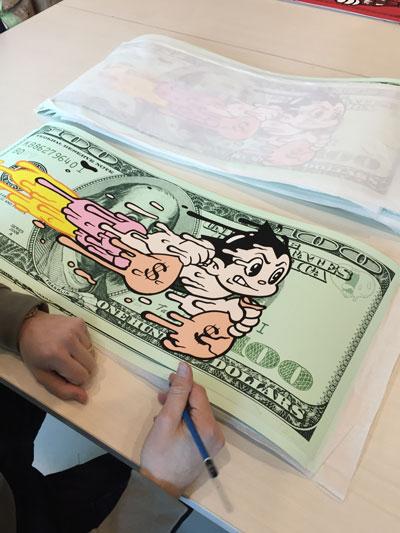 Antoine Tava - Astro Robot - Dollar Bill