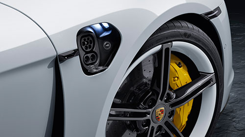 The Porsche Taycan - Charging outlet