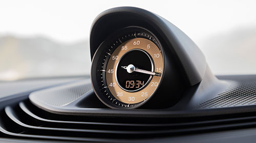 The Porsche Taycan - Clock