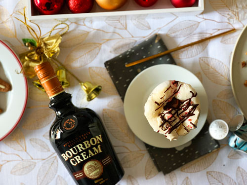Buffalo Trace Bourbon Cream et Nespresso - Bouteille