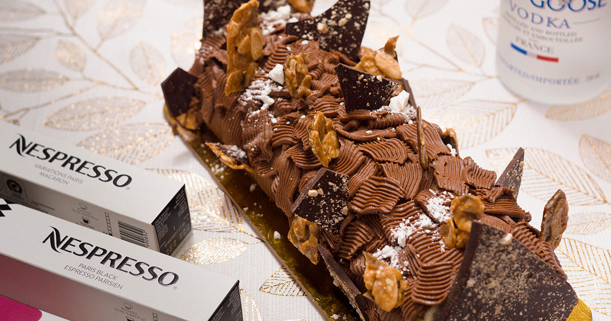 Chocolate and Nespresso Yule Log by Gregory Faye