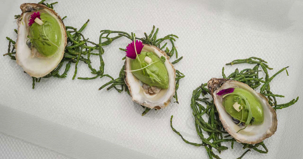 Oysters, mignonette, and watercress, Acadian caviar by Chef Gregory Faye - Cover