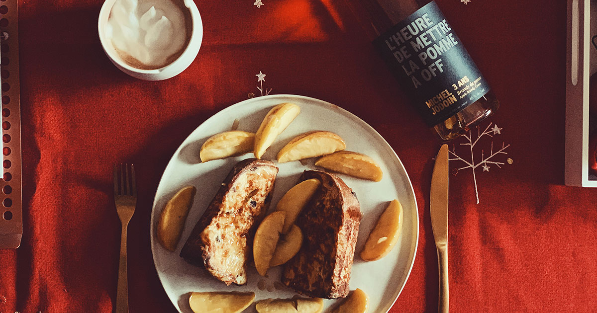 Panettone French toast with apple brandy - Cover