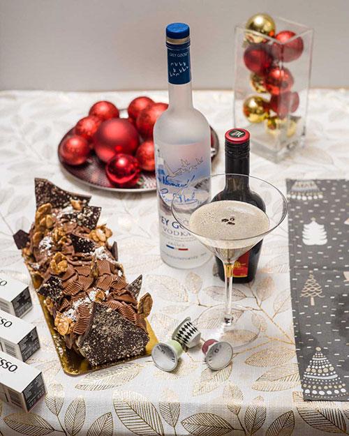 The Espresso Martini and Yule Log
