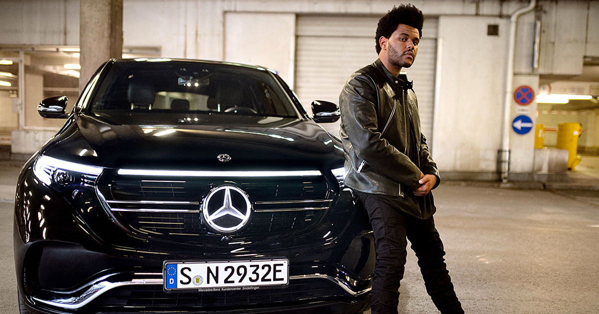 The Weeknd and Mercedes Benz