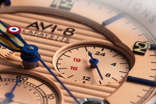Flyboy Lafayette Chronograph AVI-8 - 24 heures