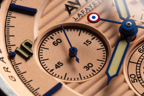 Flyboy Lafayette Chronograph AVI-8 - Dial seconds