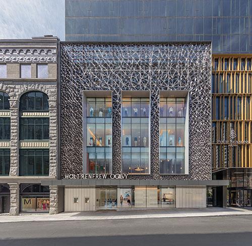 Holt-Renfrew-Ogilvy -- Facade-Four-Seasons-Hotel-Montreal