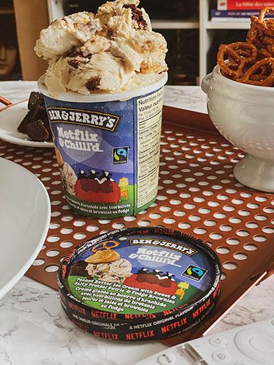 Crème glacée Netflix & Chilll'd-Pot+Couvercle