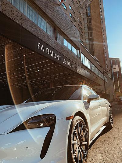 Porsche-Taycan---Fairmont-Le-Reine-Elizabeth