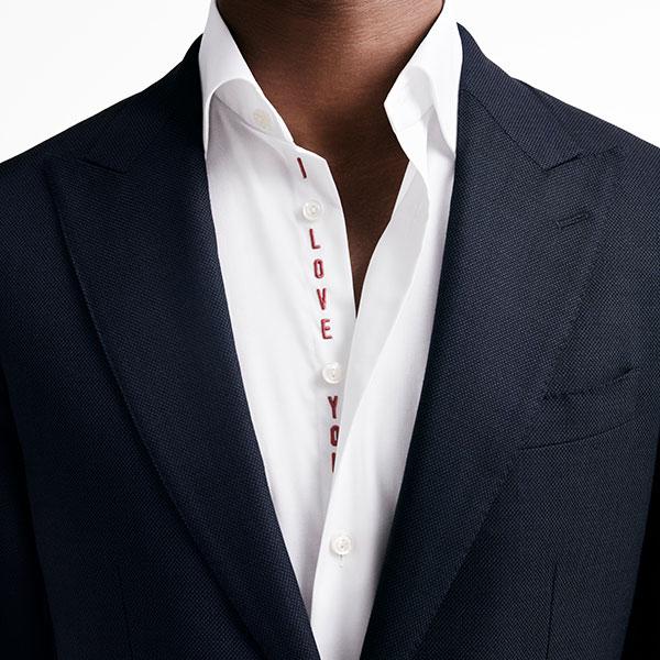 Eton-Valentine's Day Shirt---I-love-you The best gentleman gifts for Valentine's Day