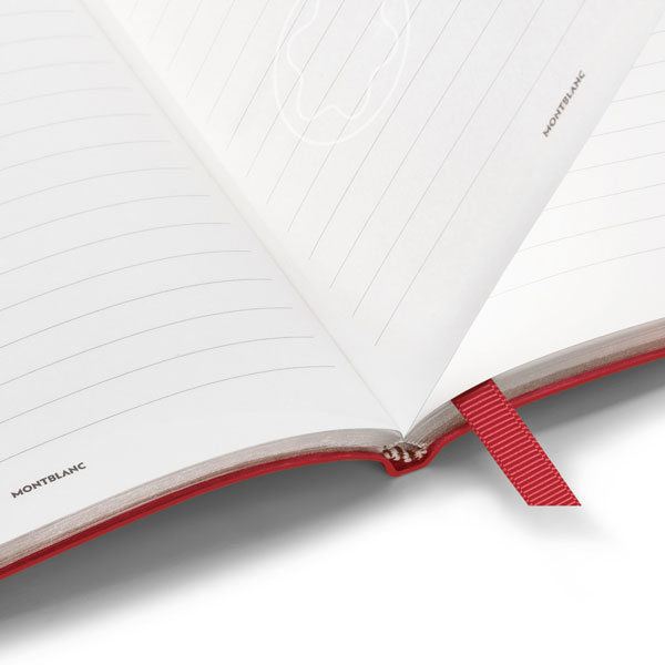 Notebook-146-Montblanc-Fine-Stationery---Red-with-lines---Open-
