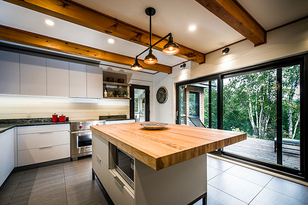 White and Wood Kitchen by Fines Cuisines - Kitchens