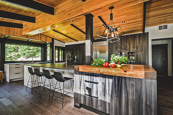 Wooden Kitchen by Fines Cuisines